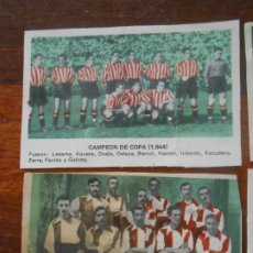 Coleccionismo deportivo: LOTE FUTBOL ORIGINAL 4 POSTALES ATLETIC ATHLETICO DE BILBAO CAMPEON COPA 1903 1944 FUTBOL CROMO CROM. Lote 276554003