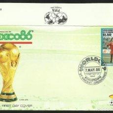 Coleccionismo deportivo: GRENADINES 1986 SOBRE PRIMER DIA CIRCULACION COREA DEL SUR COPA MUNDIAL FUTBOL MEXICO 86 FDC. Lote 276560983