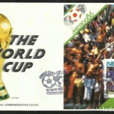 Coleccionismo deportivo: NEVIS 1986 SOBRE PRIMER DIA CIRCULACION COPA MUNDIAL FUTBOL MEXICO 86 FDC ITALIA ALEMANIA. Lote 276569773