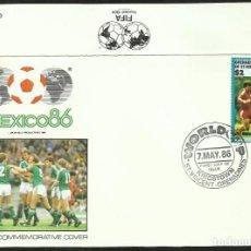 Coleccionismo deportivo: GRENADINES 1986 SOBRE PRIMER DIA DE CIRCULACION MUNDIAL DE FUTBOL MEXICO 86 - IRLANDA. Lote 276739263