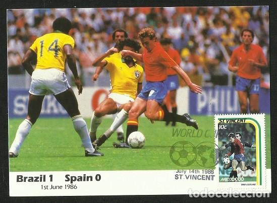 SAN VICENTE 1986 POSTAL PRIMER DIA CIRCULACION FDC COPA MUNDIAL FUTBOL FIFA ESPAÑA (Coleccionismo Deportivo - Postales de Deportes - Fútbol)
