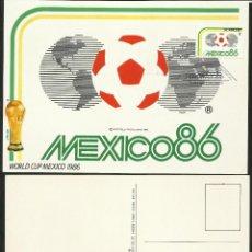 Coleccionismo deportivo: SAN VICENTE 1986 POSTAL GRAN TAMAÑO PRIMER DIA CIRCULACION FDC COPA MUNDIAL FUTBOL 86 ESCOCIA. Lote 277041658