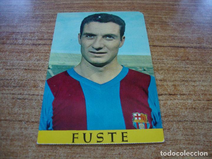 POSTAL F C BARCELONA FUSTE (Coleccionismo Deportivo - Postales de Deportes - Fútbol)
