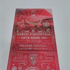 Coleccionismo deportivo: POSTAL ATHLETIC CLUB FELICES FIESTAS Y PRÓSPERO AÑO NUEVO.. Lote 277721103