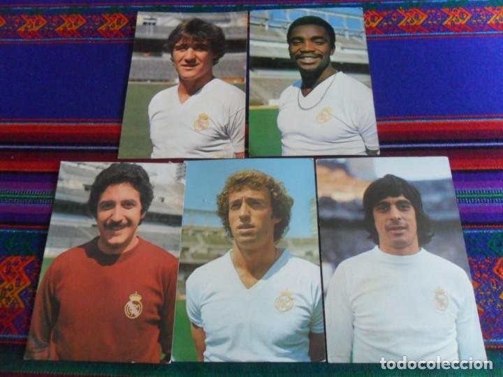REAL MADRID AÑOS 70 POSTAL SIN CIRCULAR WOLFF, POLI RINCÓN, CUNNINGHAM, GUERINI, GARCÍA REMÓN. RARAS (Coleccionismo Deportivo - Postales de Deportes - Fútbol)
