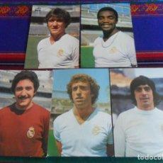Coleccionismo deportivo: REAL MADRID AÑOS 70 POSTAL SIN CIRCULAR WOLFF, POLI RINCÓN, CUNNINGHAM, GUERINI, GARCÍA REMÓN. RARAS. Lote 278227253