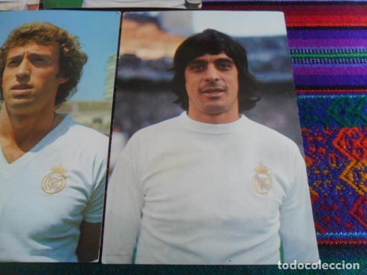 Coleccionismo deportivo: REAL MADRID AÑOS 70 POSTAL SIN CIRCULAR WOLFF, POLI RINCÓN, CUNNINGHAM, GUERINI, GARCÍA REMÓN. RARAS - Foto 2 - 278227253