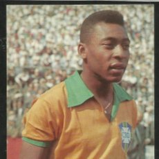 Coleccionismo deportivo: POSTAL FUTBOL JUGADOR BRASILEÑO EDSON ARANTES DO NASCIMENTO PELE - BRASIL. Lote 278337353