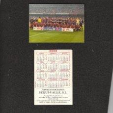 Coleccionismo deportivo: CALENDARIO PUBLICITARIO. FÚTBOL CLUB BARCELONA. BARÇA. ALINEACIÓN. AÑO 2003. Lote 278379533