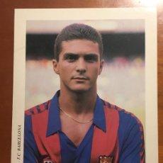 Coleccionismo deportivo: GUILLERMO AMOR FUTBOL CLUB BARCELONA POSTAL ORIGINAL ANTIGUA AÑOS 90 DREAM TEAM. Lote 278935118
