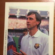 Coleccionismo deportivo: JOHAN CRUYFF FUTBOL CLUB BARCELONA POSTAL ORIGINAL ANTIGUA AÑOS 90 DREAM TEAM. Lote 278935158