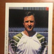 Coleccionismo deportivo: JOHAN CRUYFF FUTBOL CLUB BARCELONA POSTAL ORIGINAL ANTIGUA AÑOS 90 DREAM TEAM. Lote 278935183