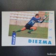 Coleccionismo deportivo: POSTAL FÚTBOL REAL BETIS - FOTO DEL JUGADOR JOSE DIEZMA - PUBLICIDAD JOMA. Lote 278946338