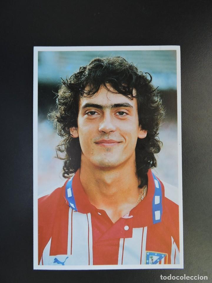 POSTAL FÚTBOL ATLÉTICO DE MADRID - JUGADOR JUAN MANUEL LÓPEZ - PRODUCTO OFICIAL - 1994 (Coleccionismo Deportivo - Postales de Deportes - Fútbol)