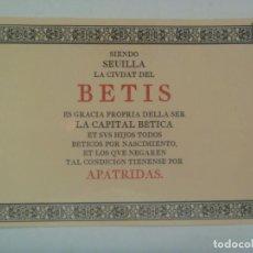 Coleccionismo deportivo: POSTAL PRO BETIS . DE PADILLA LIBROS ... 14 X 21 CM. Lote 279506738