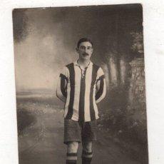 Coleccionismo deportivo: TARJETA POSTAL FOTOGRAFICA JUGADOR CLUB SPORTIVO SANTA CRUZ. AÑO 1922. Lote 279556213