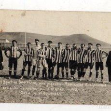 Coleccionismo deportivo: TARJETA POSTAL FOTOGRAFICA CLUB SPORTIVO SANTA CRUZ QUE JUGO CON ASOCIACION RIO GALLEGOS. 1922. Lote 279556413
