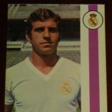 Collezionismo sportivo: POSTAL REAL MADRID, JUGADOR ANTONIO GONZALEZ GONZALEZ, 1971, FOTOCOLOR LARA, ED. IBERGAS, SIN CIRCUL. Lote 286358223