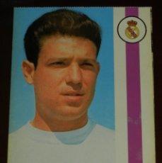 Coleccionismo deportivo: POSTAL REAL MADRID, JUGADOR RAMON MORENO GROSSO, 1971, FOTOCOLOR LARA, ED. IBERGAS, SIN CIRCULAR. Lote 286358493