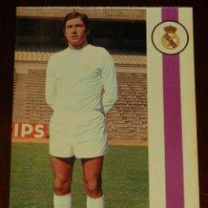 Collezionismo sportivo: POSTAL REAL MADRID, JUGADOR JOSE ANTONIO GRANDE CEREIJO, 1971, FOTOCOLOR LARA, ED. IBERGAS, SIN CIRC. Lote 286358543