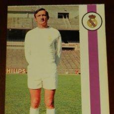 Coleccionismo deportivo: POSTAL REAL MADRID, JUGADOR IGNACIO ZOCO ESPARZA, 1971, FOTOCOLOR LARA, ED. IBERGAS, SIN CIRCULAR. Lote 286358768