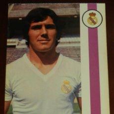 Coleccionismo deportivo: POSTAL REAL MADRID, JUGADOR CARLOS ALONSO GONZALEZ SANTILLANA, 1971, FOTOCOLOR LARA, ED. IBERGAS, SI. Lote 286402078