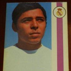 Coleccionismo deportivo: POSTAL REAL MADRID, JUGADOR SEBASTIAN FLEITAS MIRANDA, 1971, FOTOCOLOR LARA, ED. IBERGAS, SIN CIRCUL. Lote 286402213