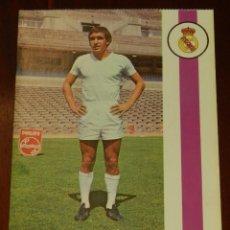 Collezionismo sportivo: POSTAL REAL MADRID, JUGADOR ANDRES GONZALEZ PONCE 1971, FOTOCOLOR LARA, ED. IBERGAS, SIN CIRCULAR. Lote 286403478