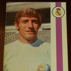 Collezionismo sportivo: POSTAL REAL MADRID, JUGADOR JUAN VERDUGO PEREZ 1971, FOTOCOLOR LARA, ED. IBERGAS, SIN CIRCULAR. Lote 286403548