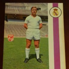 Collezionismo sportivo: POSTAL REAL MADRID, JUGADOR ADOLFO FERNANDEZ VAZQUEZ 1971, FOTOCOLOR LARA, ED. IBERGAS, SIN CIRCULAR. Lote 286403773