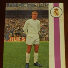 Collezionismo sportivo: POSTAL REAL MADRID, JUGADOR FRANCISCO BALLESTER ENGUIX 1971, FOTOCOLOR LARA, ED. IBERGAS, SIN CIRCUL. Lote 286403858