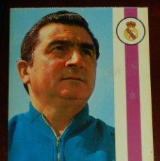 Coleccionismo deportivo: ENTRENADOR MIGUEL MUÑOZ, REAL MADRID, 1971, FOTOCOLOR LARA, ED. IBERGAS, SIN CIRCULAR. Lote 286404108