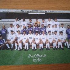 Coleccionismo deportivo: POSTAL DEL REAL MADRID 1995/1996. Lote 287007638