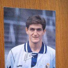 Coleccionismo deportivo: MIKEL LASA, REAL MADRID. POSTAL, AUTÓGRAFO ORIGINAL E IMPRESO. Lote 287009168