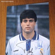 Coleccionismo deportivo: NANDO, REAL MADRID. POSTAL, AUTÓGRAFO IMPRESO Y ORIGINAL. Lote 287009518