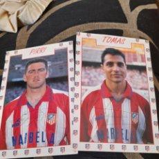 Coleccionismo deportivo: PIRRI Y TOMÁS, POSTALES DEL ATLÉTICO DE MADRID. Lote 287106763