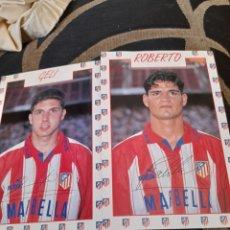 Coleccionismo deportivo: GELI Y ROBERTO, POSTALES DEL ATLÉTICO DE MADRID. Lote 287106888