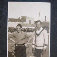 Coleccionismo deportivo: RICARDO ZAMORA-FOTOS A.GURI, SABADELL-FOTOGRAFICA-POSTAL ANTIGUA-(83.981). Lote 287371158