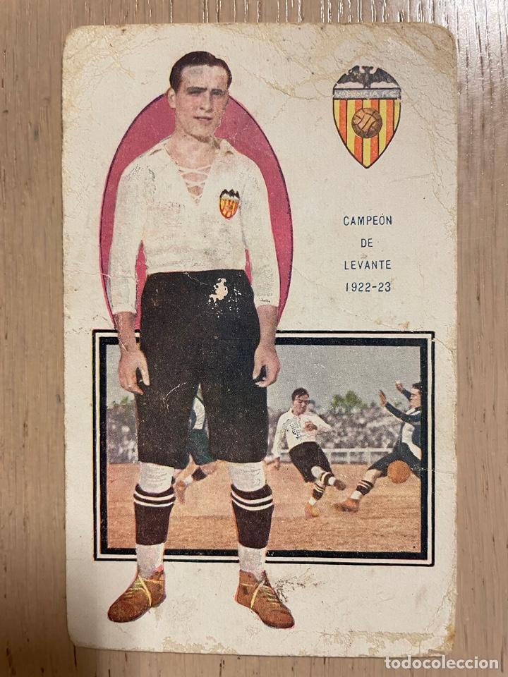 CROMO TARJETA POSTAL CUBELLS (VALENCIA FC) CHOCOLATES AMATLLER (Coleccionismo Deportivo - Postales de Deportes - Fútbol)