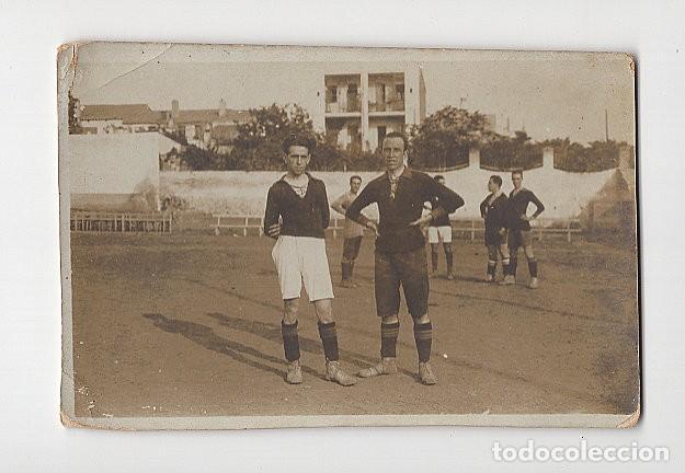 JUGADORES DE FÚTBOL MUY ANTIGUOS, POSIBLEMENTE DE CATALUÑA (Coleccionismo Deportivo - Postales de Deportes - Fútbol)