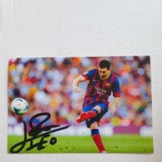 Coleccionismo deportivo: LEO MESSI F.C BARCELONA BARÇA FOTO FIRMADA IMPRESA. Lote 288211228