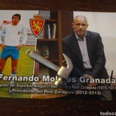 Coleccionismo deportivo: POSTAL FÚTBOL FERNANDO MOLINOS, ESPAÑOL REAL ZARAGOZA FÚTBOL. Lote 289364318