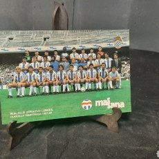 Colecionismo desportivo: ANTIGUA POSTAL DE FUTBOOL REAL CLUB DEPORTIVO PLANTILLA TEMPORADA 1987-88 MASSANA. Lote 290925338