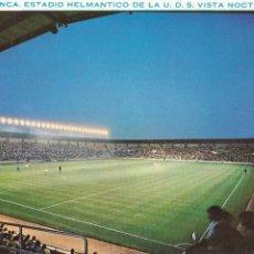 Coleccionismo deportivo: SALAMANCA, CAMPO DE FUTBOL, ESTADIO HELMANTICO VISTA NOCTURNA. ED. CERVANTES Nº 140. AÑO 1969. Lote 291484388