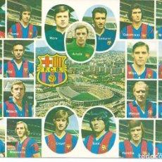 Colecionismo desportivo: POSTAL F.C. BARCELONA (BARÇA) - PLANTILLA JUGADORES - CAMPAÑÁ 1976. Lote 292394613