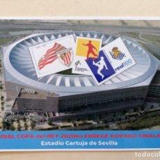 Coleccionismo deportivo: POSTAL CORREOS FINAL COPA DEL REY 2020 LA CARTUJA REAL SOCIEDAD ATHLETIC CLUB BILBAO. Lote 293760238