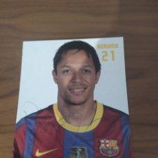 Coleccionismo deportivo: POSTAL ADRIANO CORREIA DEDICADA Y FIRMADA FC BARCELONA. LOTE BEA 4.. Lote 294138593