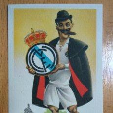Coleccionismo deportivo: POSTAL CARICATURA EQUIPOS DE FUTBOL. REAL MADRID - ILUSTRA RUIZ - ED. JUFRAN. Lote 294165063