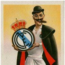 Coleccionismo deportivo: REAL MADRID C.F. - TARGETA POSTAL EQUIPOS DE FUTBOL SERIE A - ED. JUFRAN, BARCELONA. Lote 295506243