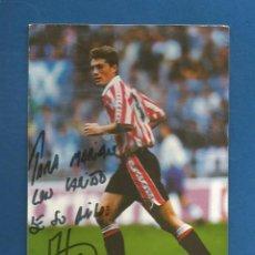 Coleccionismo deportivo: POSTAL FOTOGRAFICA FUTBOL PUBLICITARIA REEBOK JULEN GUERRERO CON AUTOGRAFO ATHLETIC BILBAO. Lote 296886918